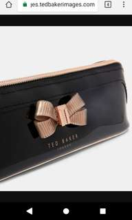 BNWT Ted Baker Bow Pencil Case in Black