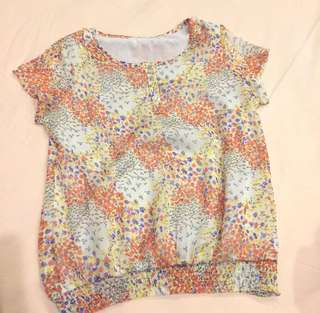 Lovely Chiffon Floral Peasant Top
