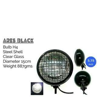 Motorbike/ Caferacer Headlight/ Lamp Ares Black