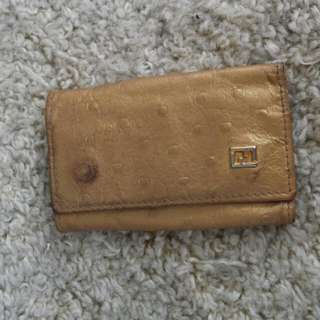 Authentic Ostrich Fendi Keyholher