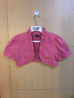 Outer cardigan import pink