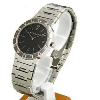 BVLGARI Stainless Steel Womens Watch Quartz 女裝手錶 絕對真品 可驗貨