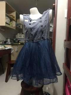 Tutu button top dress