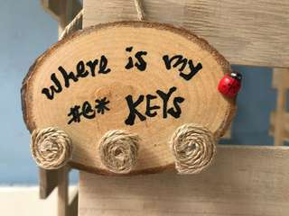 Wooden house key holder