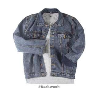 Sand Wash Unisex Oversized Jacket Jeans