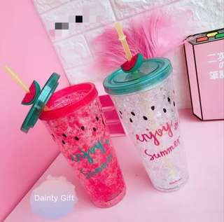 🚚 Watermelon Tumbler with straw