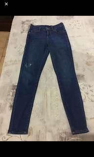 Topshop petite mid rise skinny size 6 jeans w26l28