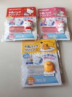 Sanrio Milk Box Clip