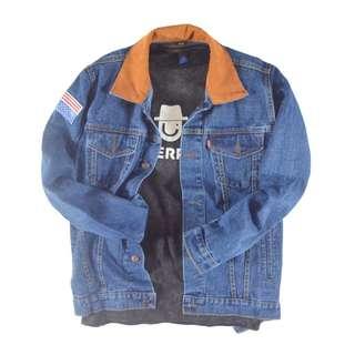 Flag Unisex Oversized Jacket Jeans