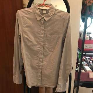 Grey polka shirt #awaltahun