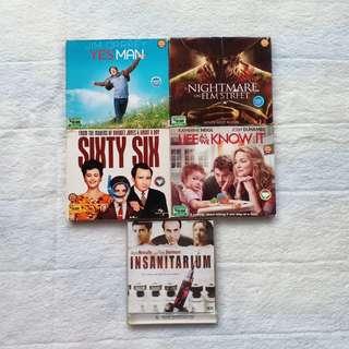 KASET CD DVD FILM HORROR KOMEDI ROMANTIS LUAR NEGRI BARAT MURAH PRELOVED