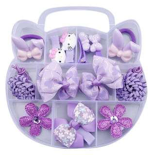 Hair Accessories set with storage container