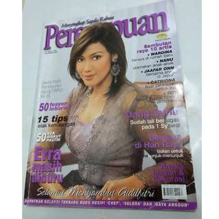Majalah Perempuan Nov 2004 - cover Erra Fazira