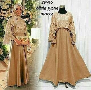 MLA - 0418 - Dress Gamis Busana Muslim Wanita Olivia