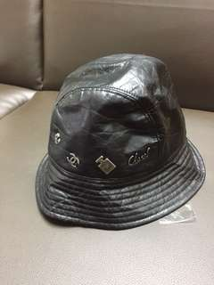 Chanel leather hat 帽