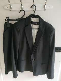 Zara Basic Suit Skirt Black Size S