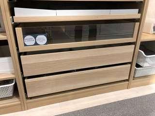 全新 IKEA PAX Komplement drawer 100x58cm 抽屜白橡木 oak