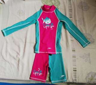 Speedo 2-pc Rash Guard for Kids