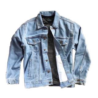 Bio Blue Unisex Oversized Jacket Jeans