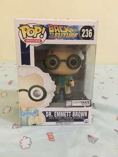 LOOTCRATE EXCLUSIVE Dr. Emmett Brown (Back to the Future) Funko Pop