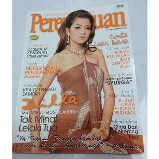 Majalah Perempuan Mac 2007 - cover Dilla Most Beautiful