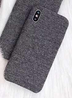 Iphone X case bahan kain
