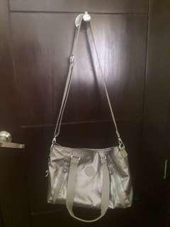 Authentic Metallic Kipling Bag