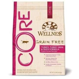 Wellness Core Turkey & Duck Cat Food 5lb $48/11lb $78
