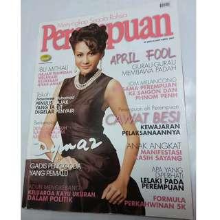 Majalah Perempuan April 2007 - cover Dynas