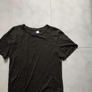 h&m army green plain shirt