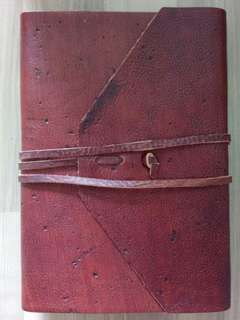Genuine leather journal - handmade in Italy
