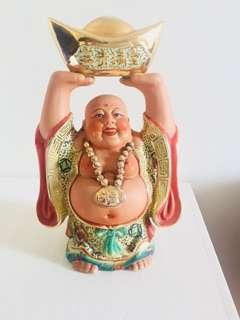 佛教和尚陶瓷公仔擺設裝飾富貴風水