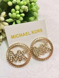 Micheal Kors MK logo 閃石耳環