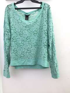 Green Sweater Lace