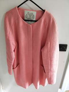 Forever New Coat in Peach Size 10