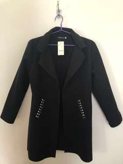 Bluebell black pocket coat