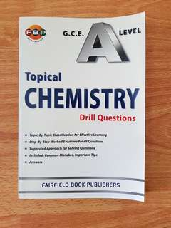 H2 Chemistry Topical Drill Questions