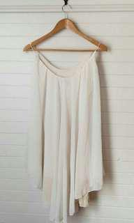 White flowy boho dress - size 8