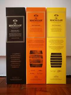 Macallan Edition No.1-3