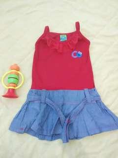 Sesame Street red&maong dress