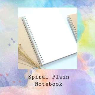 plain spiral notebook
