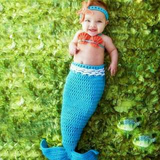 Mermaid baby crochet 3pc set