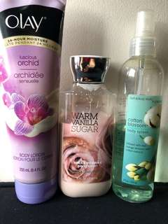 Bundle: Bath & Body Works and Olay products
