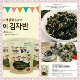 📢 韓國BADAWON天然兒童小魚乾海苔酥40g Korean BADAWON Natural Child Fish Dry Seaweed Crisp 40g