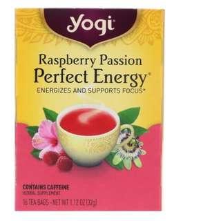 🚚 Yogi Tea, Raspberry Passion, Perfect Energy, 16 Tea Bags, 1.12 oz (32 g)