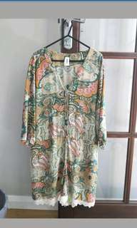 Milea Silk Jumpsuit Size S