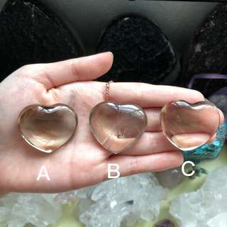 Smoky Quartz Polished Hearts