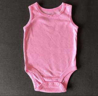 Carter's Sleeveless Pink Romper