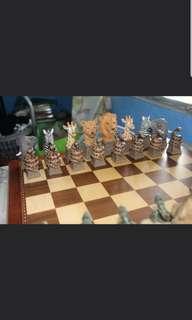 Jungle Figurine Chess Set