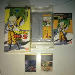 Bundle, Rare 2 X NEC PC Engine Hu Card Bloody Wolf And Tiger Kyuukyoku Taito  + Famicom DBZ Dragonball  Game Cart